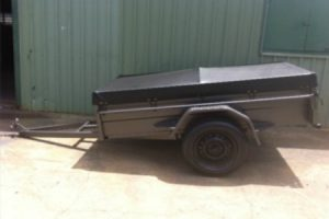 Box Trailer With Flat PVC Cover