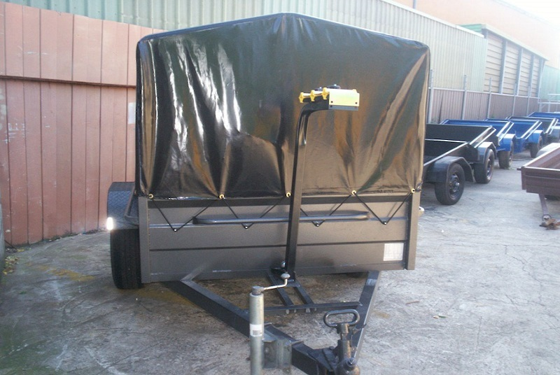 Box Trailer With High Side PVC Cover