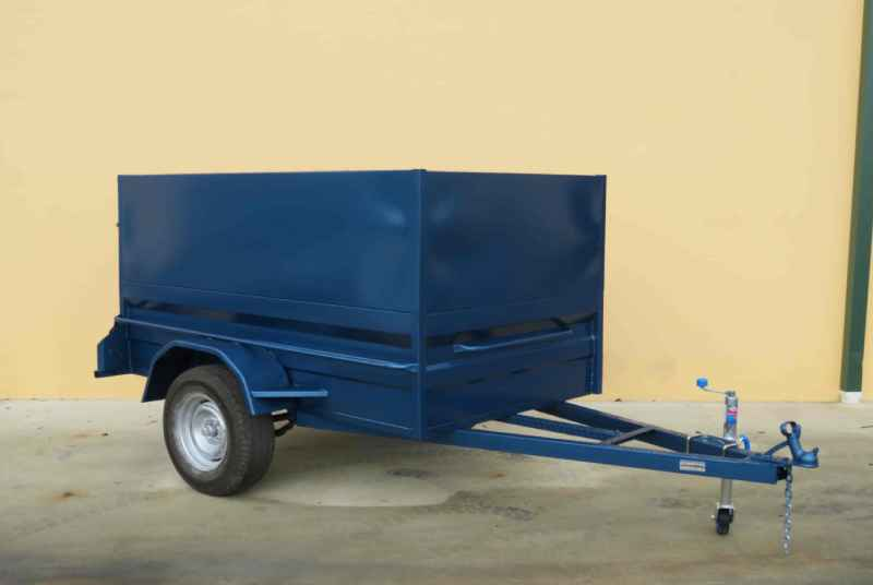 Box Trailer With Sheet Metal Cage