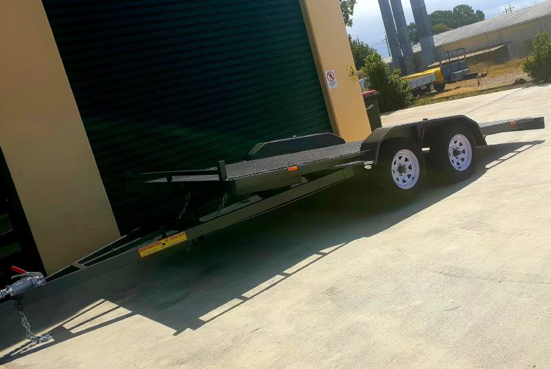 Car Trailer With Draw Bar Tilt
