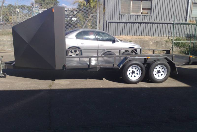 Car Trailer With Short Nose Cone
