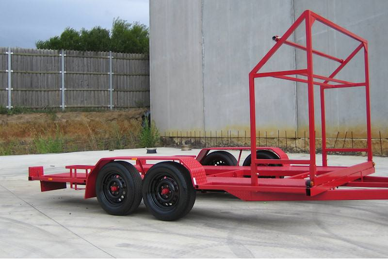 Car Trailer With Tyre Rack