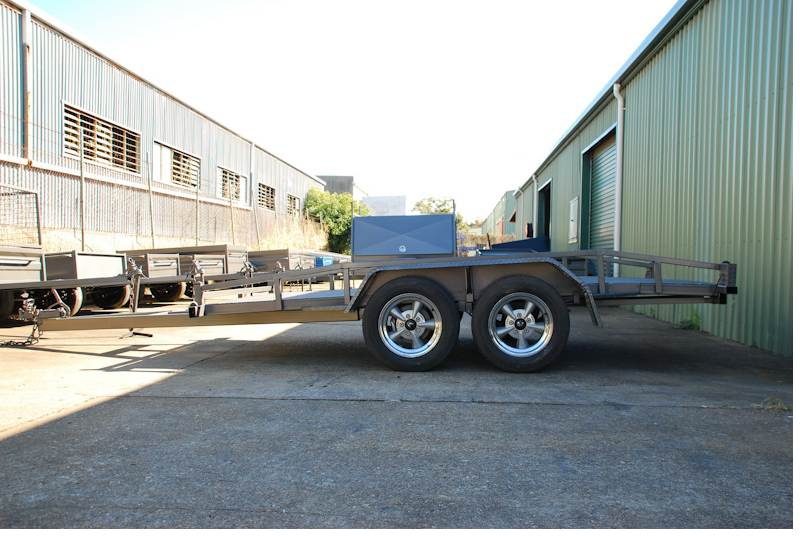 Car Trailer With Top Rails