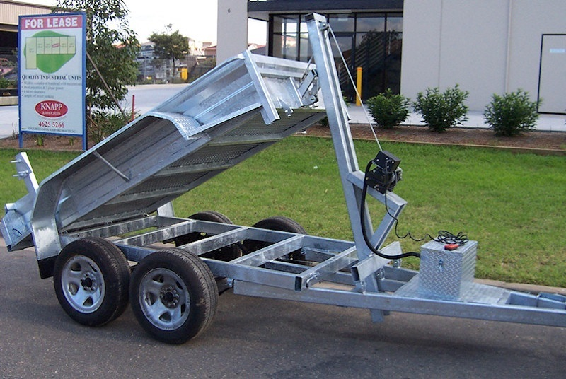 Electric Winch Tipper Trailer