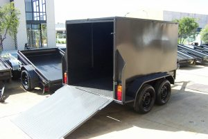 Enclosed Trailer With Back Door