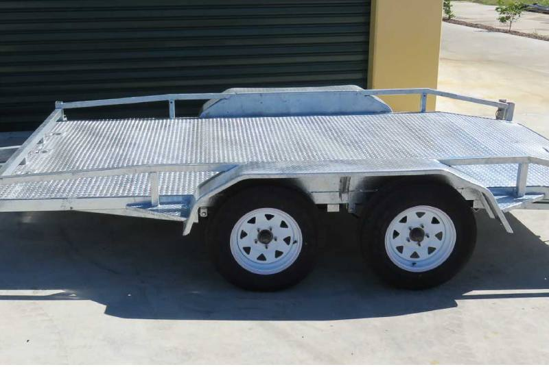 Galvanised Car Trailer With Rails