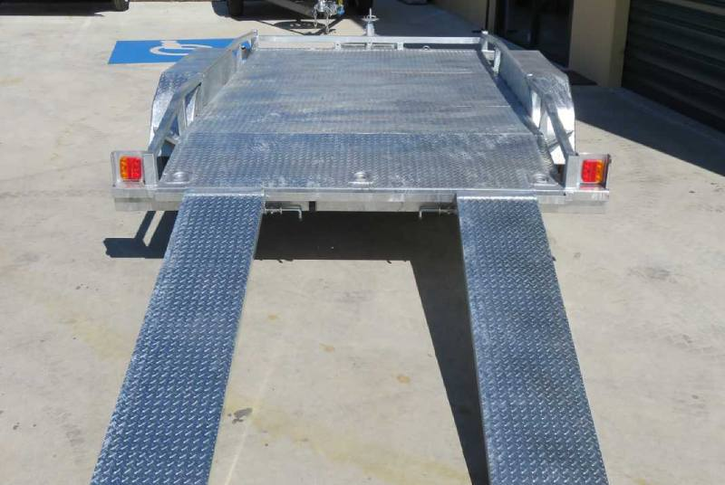 Galvanised Trailer With Rails