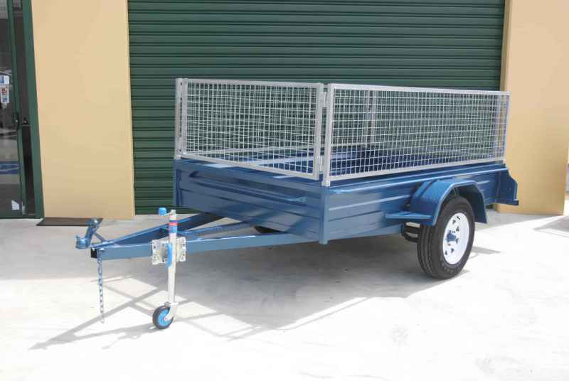 Heavy Duty Box Trailers With Cage