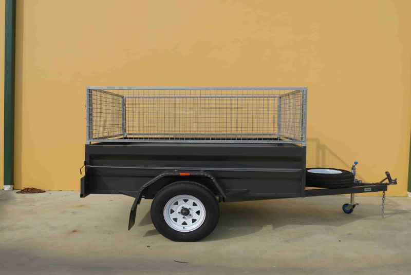 High Side Trailer With Cage