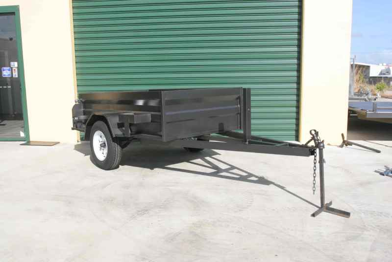 High Side Trailer With Jerry Can Gas Bottle Holder