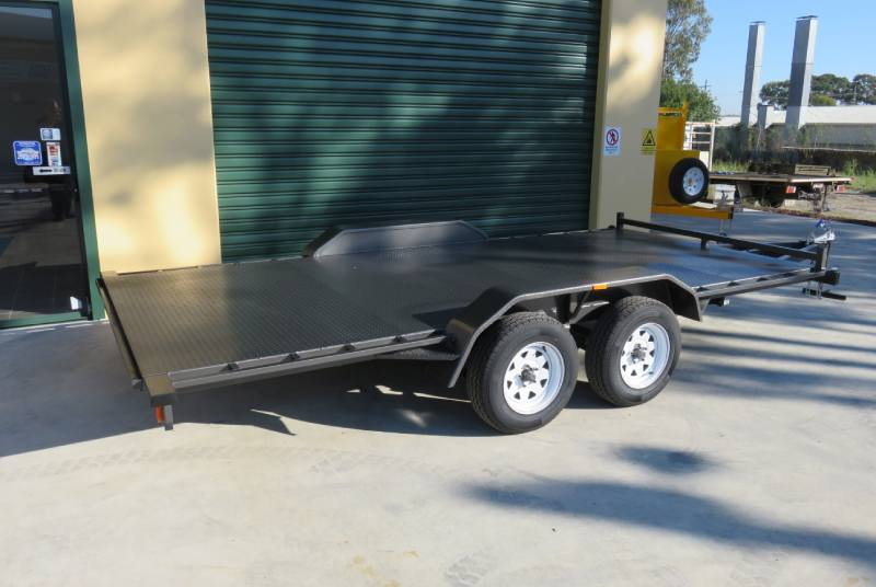 Standard Car Trailer With Beaver Tail