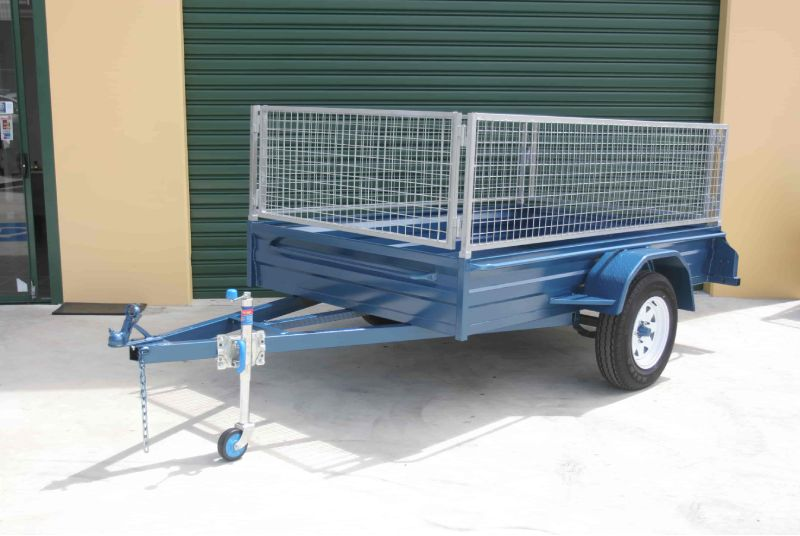 Tandem Car Trailer With Cage