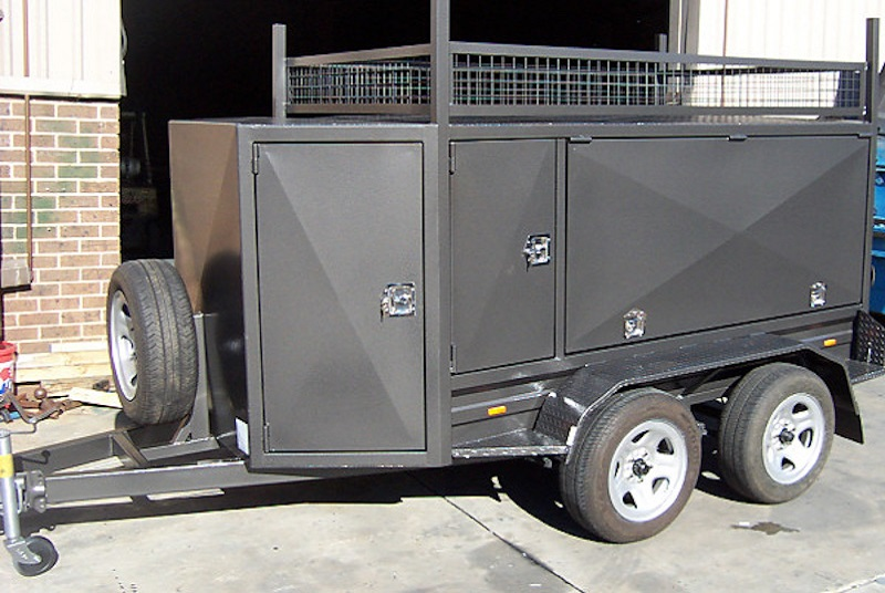 Tandem Square Tradesman Trailers Wihth Compressor Box