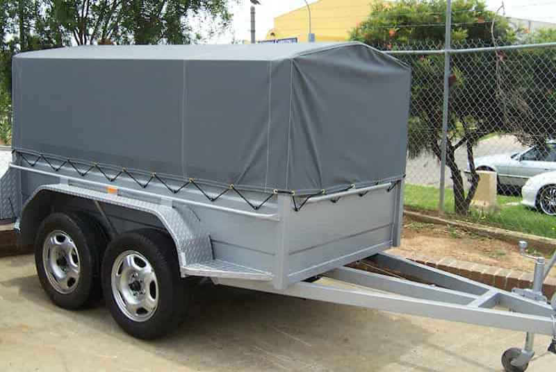 Tandem Trailer With Cage Canopy Cover