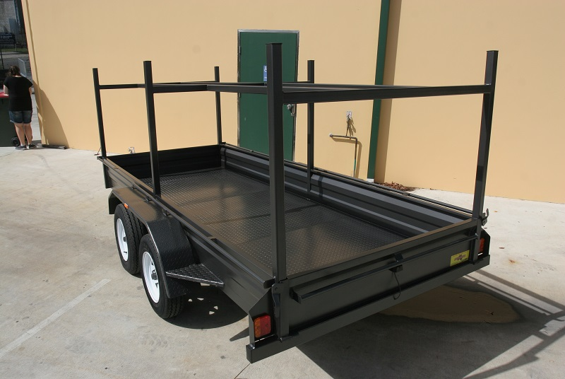 Tandem Trailer With Ladder Racks